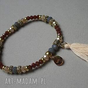 brązowe bransoletki chwost kolekcja rich boho - cynamon vol