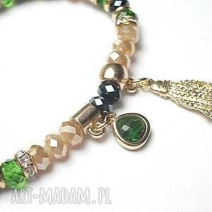 wyjątkowe bransoletki kryształki kolekcja rich boho -greenery /24