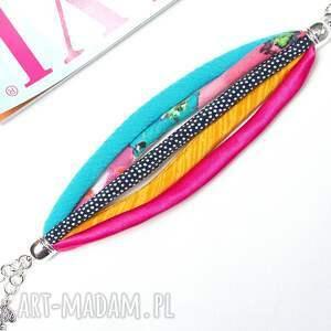 różowe bransoletki tkanina kolorowa bransoletka na lato