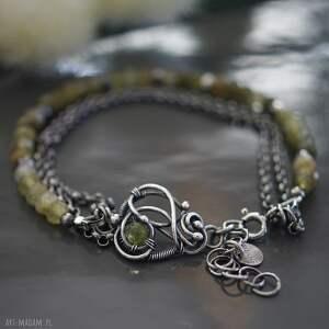 zielone bransoletka srebrna zainspirowana kolorami