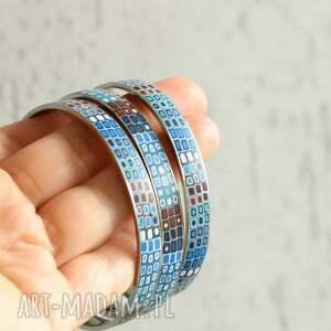 bransoletki brązowe komplet stalowych bransolet
