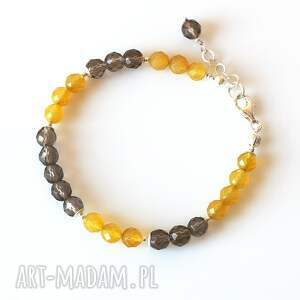 żółte kwarc - bransoletka