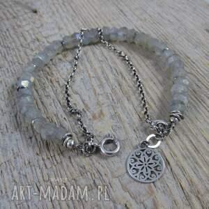 bransoletki srebro labradoryt z łańcuszkiem