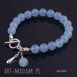 eleganckie bransoletki niebieska laguna, błękitna bransoletka