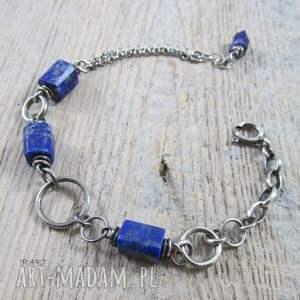 bransoletki bransoletka łańcuszek z lapis lazuli ii