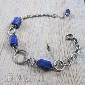 bransoletki srebro łańcuszek z lapis lazuli ii