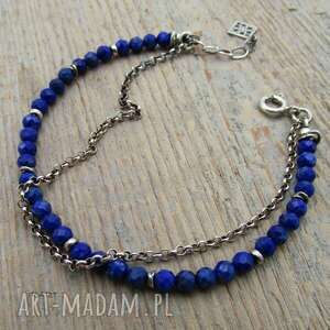 wyraziste bransoletki lapis lazuli - bransoletka
