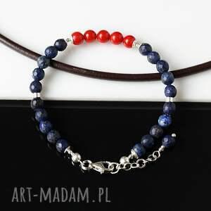 czerwone lapis lazuli z koralem