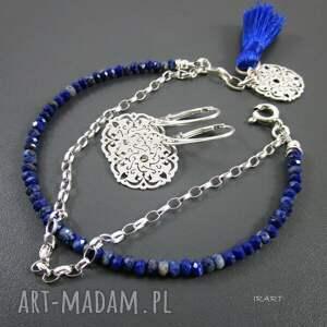 bransoletki lapis lazuli - delikatna