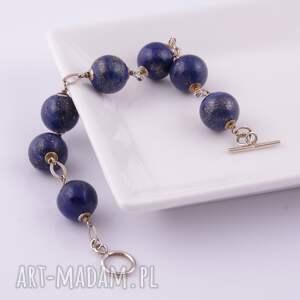 srebrne bransoletki lapis lazuli-bransoletka