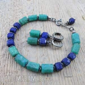 wyjątkowe lapis lazuli z amazonitem - surowa
