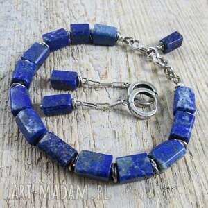 bransoletki srebro lapis lazuli z przekładkami