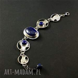 niebieskie bransoletki srebro lapis lazuri i kobaltowe niebo