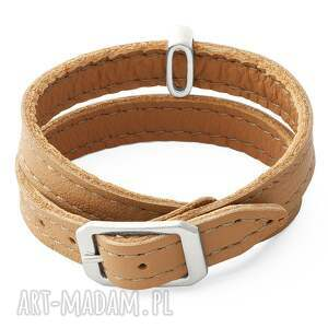 gustowne karmel leather belt - caramel with coin
