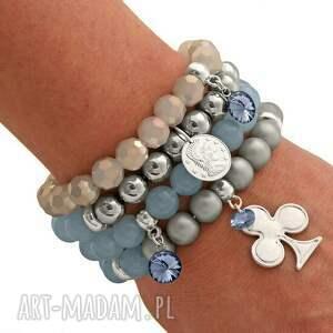 perełka bransoletki niebieskie light denim & gray set with