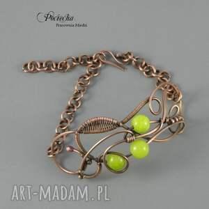 zielone bransoletki bransoletka lime, z marmurem