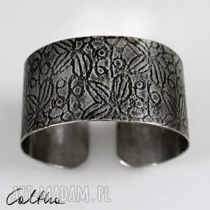 niepowtarzalne bransoletki bransoleta *liście - metalowa