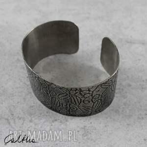 szare bransoletki bransoleta *liście - metalowa