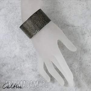 szeroka bransoletki *liście - metalowa bransoleta