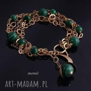 eleganckie bransoletki malachit w złocie, bransoletka