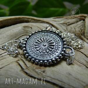 srebro mandala - bransoleta