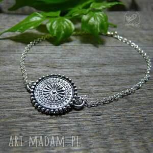 minimalistyczna mandala - bransoleta