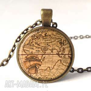 autorskie bransoletki vintage mapa świata - bransoletka