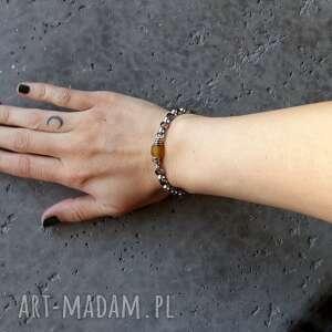 bransoletki nowoczesna masywna bransoleta - srebro 925