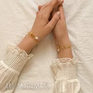 bransoletki perła masywna bransoletka z różowego