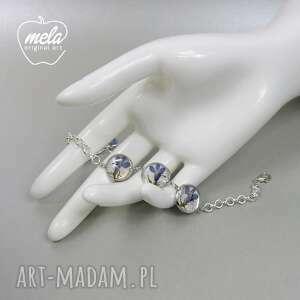 niebieskie bransoletki bransoletka 0512~mela metalowa