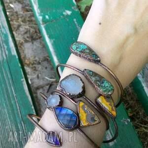 hand made kwarc miedziana z kwarcem solarnym