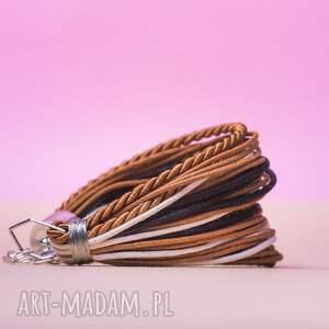 czarne sznureczkowa whw mini mess - light wood