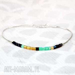 turkusowe bransoletka minimalistyczna modna