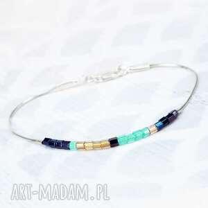 koralikowa niebieskie minimalistyczna modna bransoletka