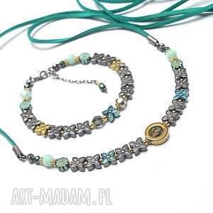 srebro bransoletki turkusowe mint/ flower/ - bransoletka
