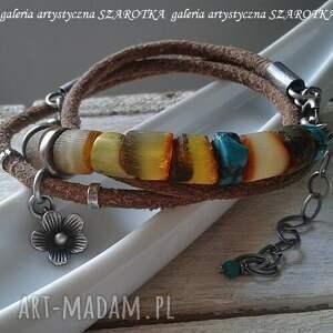 modne bursztyn miodowa bransoletka z bursztynu