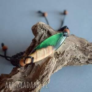 hand made bransoletka unisex mitali - z drewnem