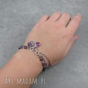 hand made księżyc urocza bransoletka w stylu boho z małym