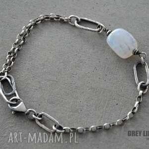 handmade bransoletki srebro moonstone bryłka. bransoletka