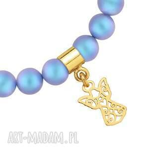 pomysł na upominki święta niebieska bransoletka z pereł