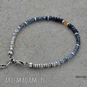 srebro bransoletki niebieskie niezapominajka