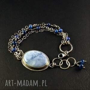 frapujące srebro oksydowane opal i obłoki