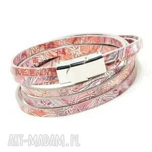 ręcznie wykonane bransoletki bransoletka owijana z owczej skóry