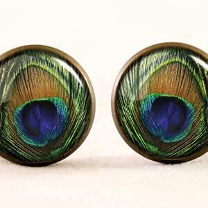 hand-made bransoletki pióra pawie oko - bransoletka
