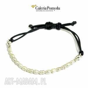 czarne bransoletki bransoletka perełki
