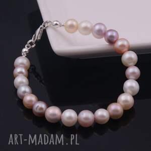 białe perły perłowa elegancja, bransoletka