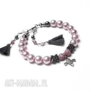 frapujące bransoletki perły perłowa lilijka - bransoletka