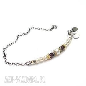 ręcznie robione srebro perłowy patyczek - bransoletka