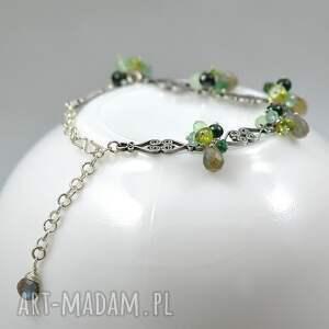 wyraziste bransoletki srebro perły i bali