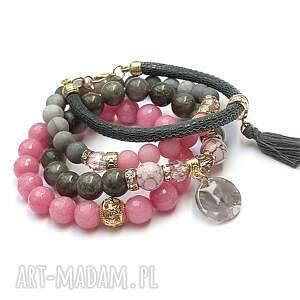 intrygujące jadeity pink candy and grey /01 -10 -19/